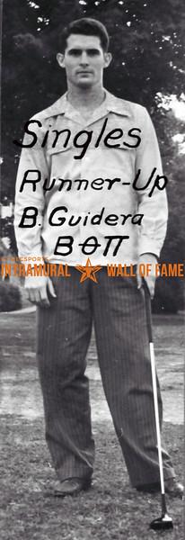 Golf, Singles Runner Up Beta Theta Pi B. Guidera