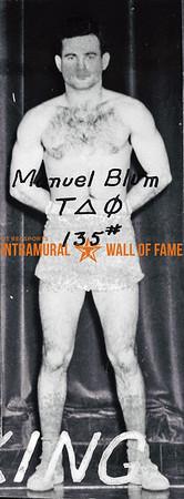 Boxing, Champion, 135 lb. Class Tau Delta Phi Manuel Blum, Tau Delta Phi