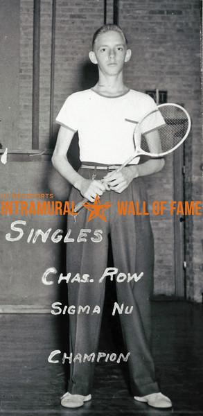 Badminton, Singles Champion Sigma Nu Charles Row