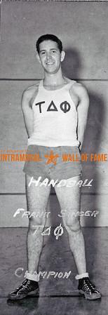 Handball, Singles Champion Tau Delta Phi Frank Singer