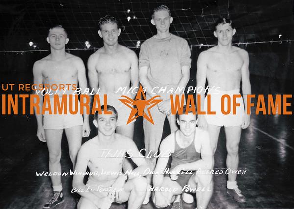 Volleyball, MICA Champion Tejas Club Weldon Winsaur, Winsauer, Lewis Hall, Dick Harrell, Alfred Owen, Bill Ed Porter, Harold Powell