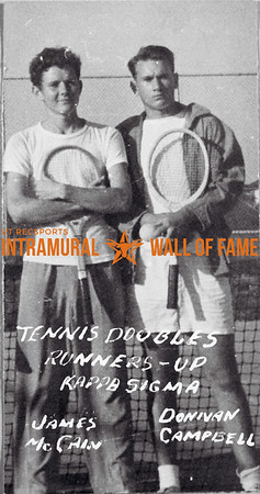 Tennis, Doubles, Runner Up Kappa Sigma James McCain, Donivan Campbell