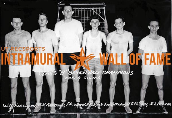 Basketball, Class B Champion Kappa Sigma W.B. Ferguson, R.N. Barbour, F.A. Winschell, G.D. Franklow, J.T. McCain, R.L. Parker