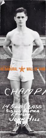 Boxing, Champion 145 lb. Class Sigma Alpha Epsilon John Hill