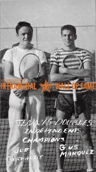 Tennis, Doubles, Champion Independents Joe Gerhardt, Gus Marquez