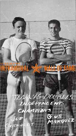 Tennis, Doubles, Champion Independents Joe Gerhardt, Gus Marquez