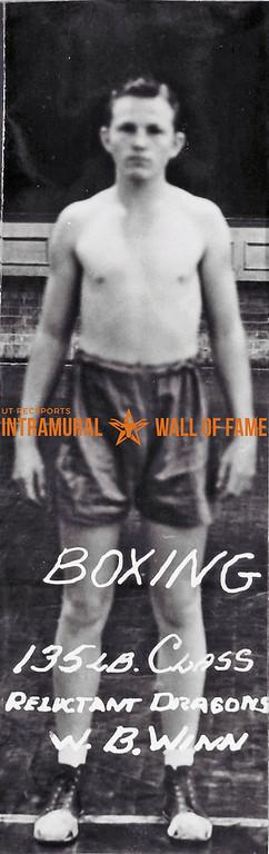 Boxing, 135 lb. Class Champion Reluctant Dragons Champion, W.B. Winn