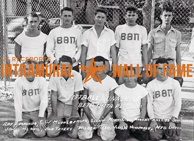 Softball, Runner Up Beta Theta Pi Ray Edmunds, C.W. Muehlberger, Glenn Mortimer, Robert Schleier, Jess Sanders, James McNeil, Bob Tetley, Wilber Reed, Virgil Humphrey, Ned Davis