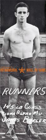 Boxing, Runner Up 145 lb. Class Sigma Alpha Mu James  Byrler