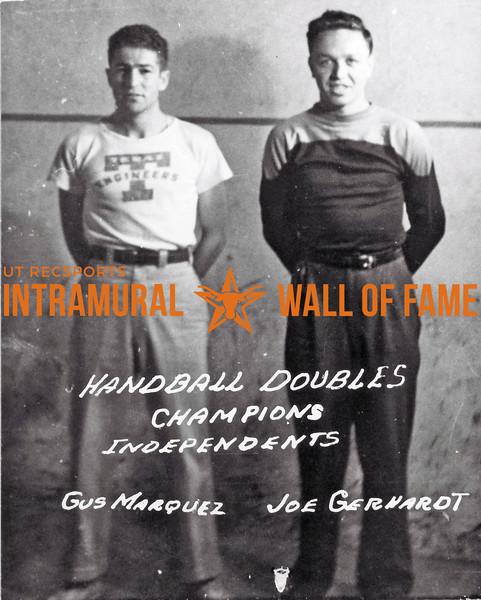 Handball, Doubles Champions Independents Gus Marquez, Joe Gerhardt