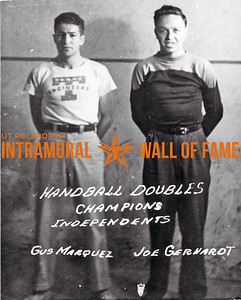 Handball, Doubles Champions Independents Gus Marquez, Joe Gerhardt