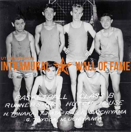Basketball, Class B Runner Up Hutch House Back Row (L-R): H. Tanaka, F. Hata, R. Lee, S. Uchiyama Front Row (L-R): G. Toyoda, M. Uchiyama