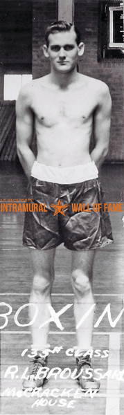 Boxing, Champion 135 lb. Class McCracken House R.L. Broussard