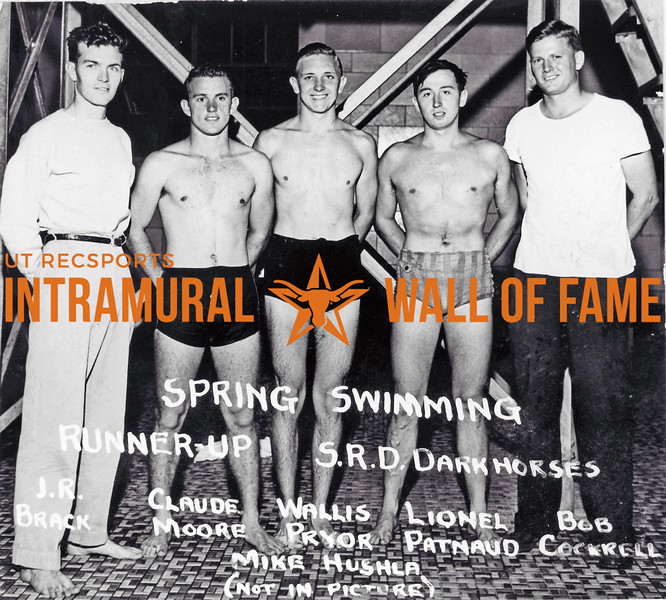Spring Swimming, Runner Up S.R.D. Darkhorses L-R: J.R. Brack, Claude Moore, Wallis Pryor, Lionel Patnaud, Bob Cockrell Mike Hushla (Not In Picture)