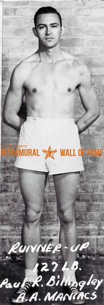 Boxing, Runner Up 127 lb. Class A.A. Maniacs Paul R. Billingley