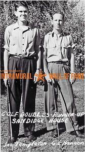 Golf, Doubles Runner Up Sandidge House James Templeton, G.E. Hannon