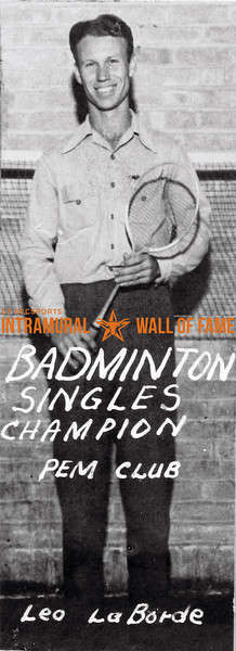 Badminton, Singles Champion P.E.M. Club Leo LaBorde