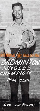 Badminton, Singles Champion P.E.M. Club Leo LaBorde
