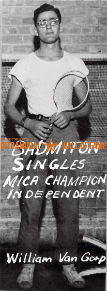 Badminton, Singles MICA Champion Independent William Van Gorp