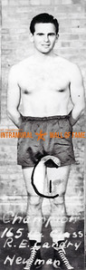Boxing, Champion 165 lb.  R.E. Landry, Newman Club