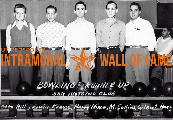 Bowling Runner Up San Antonio Club L-R: Otto Hill, Erwin Krause, Harry Nixon, M. Collins, Gilbert Haes