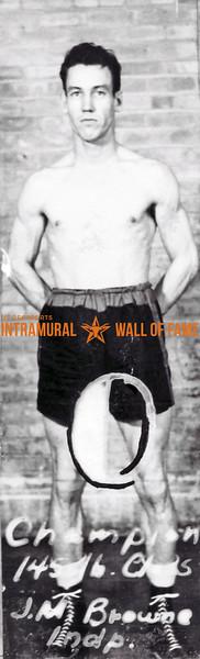 Boxing, Champion 145 lb.  J.M. Browne, Independent
