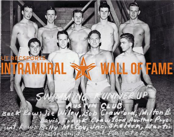 Swimming Runner Up Austin Club Back Row (L-R): Joe Wiley, Bob Crawford, Milton B. Davis, Frank Crawford, Aurthor Pryor, Arthur Pryor Front Row (L-R): Billy McCoy, Jnc. Shelton, Martin Anderson, Earl Kenetzky