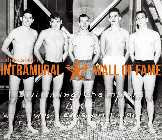 Swimming Champion Delta Kappa Epsilon L-R: Wynant Wilson, Eddie Gilbert, Tom Berry, Felden Thornhill, Peter Wiggins