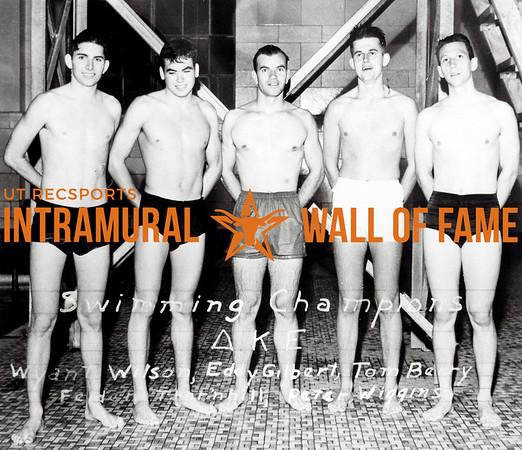 Swimming Champion Delta Kappa Epsilon L-R: Wynant Wilson, Eddie Gilbert, Tom Berry, Felden Thornhill, Peter Wiggins