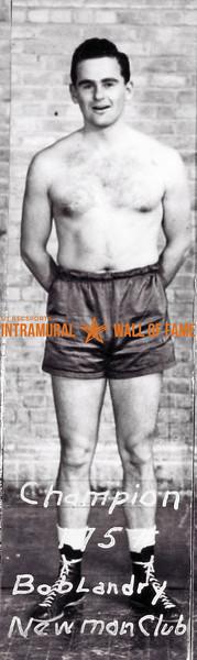 Boxing, Champion 175 lb. Bob Landry, Newman Club