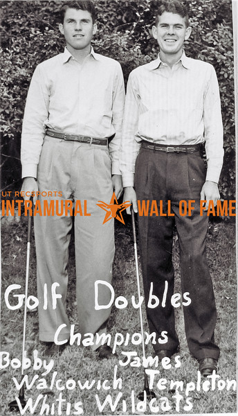 Golf Doubles, Champions,  Whitis Wildcats Bobby Walcowich, James Templeton,