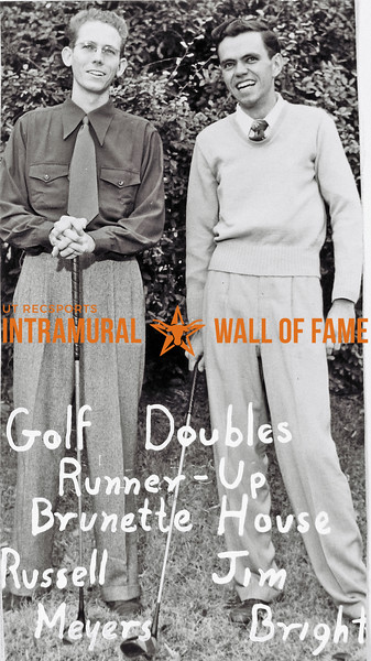 Golf Doubles, Runner-Up Brunette House Russell Meyers, Jim Bright