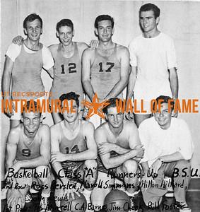 Basketball, Class A Runners-Up Baptist Student Union Second Row (L-R):  Ross Kersten, Harold Simmons, Hilton Hiliard, John Lewis First Row:  Tip Morrell, C.A. Barnes, Jim Cheek, Bill Foster
