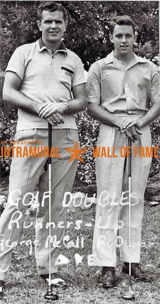 Golf Doubles Runners-Up George McCall, R. Dewar, Delta Kappa Epsilon