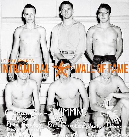 Swimming, Co-Champion Delta Kappa Epsilon Back Row (L-R):  Fred Beeler, Bill Graber, Jack Deavers Front Row, Charles White, Tony Buckley, L.M. Cochran
