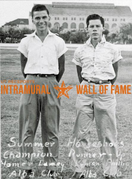 Horseshoes, Summer Champion, Homer Lamey, Alba Club Runner-Up, Keaton Phillip, Alba Club