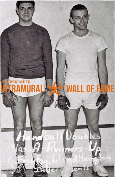 Handball Doubles, Class A Runners-Up G. Freytag, Lloyd Hampton, Independents