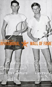 Badminton Singles Champion, Walter Shur, Hillel Runner-Up, Murray Smith, Sigma Alpha Epsilon