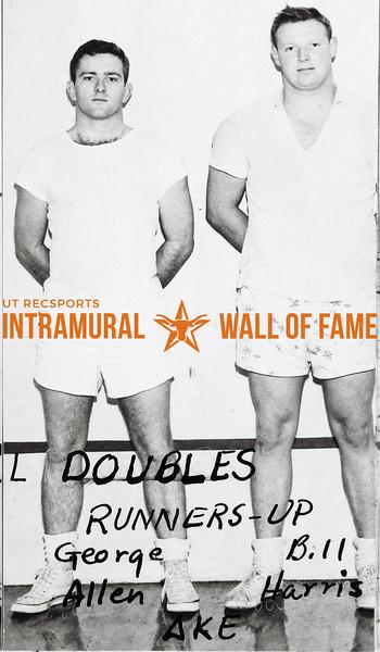 Handball Doubles, Class A Runners-Up George Allen, Bill Harris, Delta Kappa Epsilon