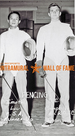 Fencing Timothy Liu, Chinese Students Association, Runner-Up David Campbell, Air Force R.O.T.C., Champion