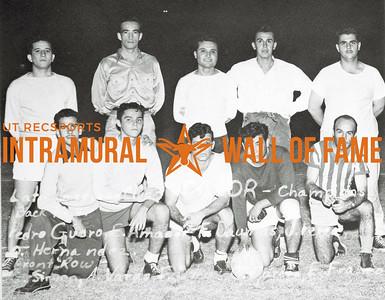 Soccer, Champions Latin American Club Back Row (L-R):  Pedro Guera, Edwardo Amador, Felix Daumas, Jaine Perea, Oscar Hernandez Front Row:  Gustavo Sirven, Alberto Varas, Fernando Dreux, Campo Garcia, Isaza Franco