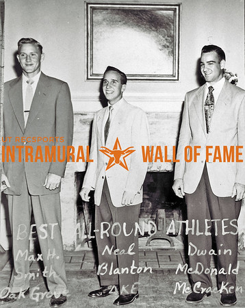 Best All-Round Athletes Max H. Smith, Oak Grove; Neal Blanton, Delta Kappa Epsilon; Dwain McDonald, McCracken