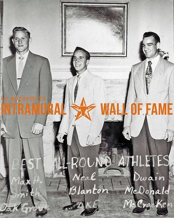 Best All-Round Athletes Max H. Smith, Oak Grove; Neal Blanton, Delta Kappa Epsilon; Dwain McDonald, McCracken