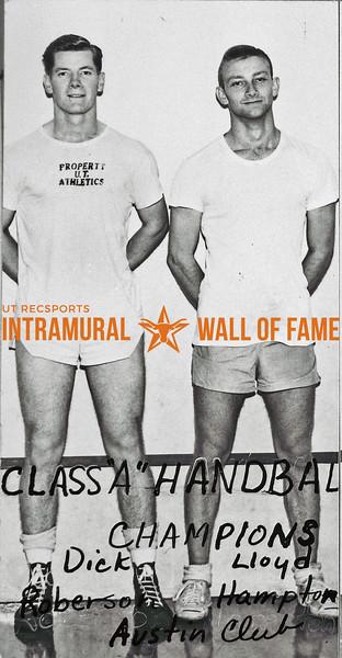 Handball Doubles, Class A Champions Dick Robertson, Lloyd Hampton, Austin Club