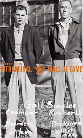 Golf Singles Champion:  Brandon Wilcox, Independent Runner-Up:  Theodore White, Theta Xi