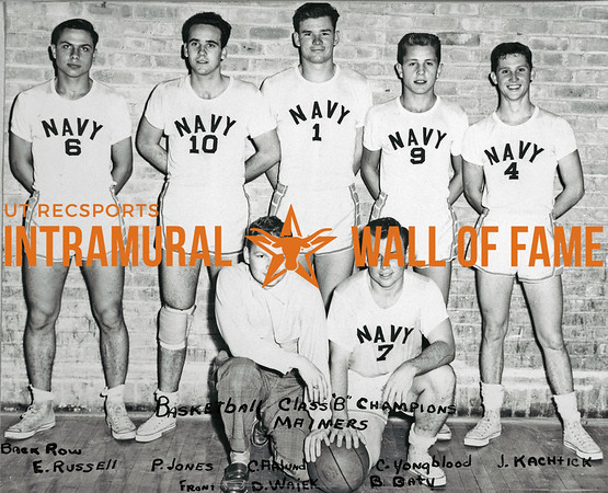 Basketball, Class B Champions Mariners Back Row (L-R):  Eugene Russell, Paul Jones, Carl Aalund, Clifford Youngblood, James Kachtick Front Row:  D.J. Wajek, Ben Baty