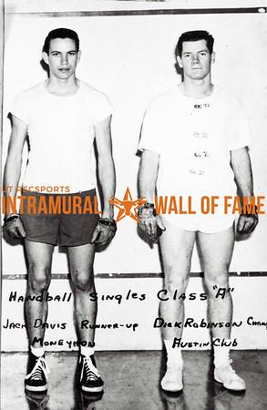 Handball Singles, Class A Jack Davis, Runner-Up, Moneyhon Dick Robinson, Champion, Austin Club