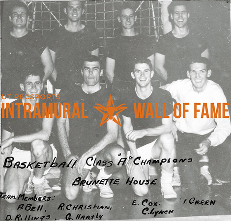 Basketball, Class A Champions Brunette House Back Row (L-R):  Elton Cox, David Rillings, Bobby Green, Gaither Hartley Front Row:  Ralph Christianson, Arthur Bell, Charles Lynch, Nelson Stubblefield