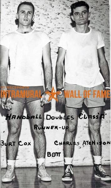 Handball Doubles, Class A Runner-Up Burt Cox, Charles Atchison, Beta Theta Pi