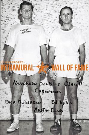 Handball Doubles, Class A Champions Dick Roberson, Ed Lynn, Austin Club